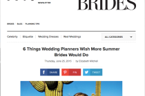 Wedding Planner advice for Summer Weddings by Brides.com