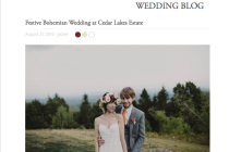 Real Wedding featured on Junebug Weddiings